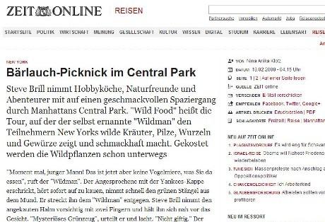 Bärlauch-Picknick im Central Park