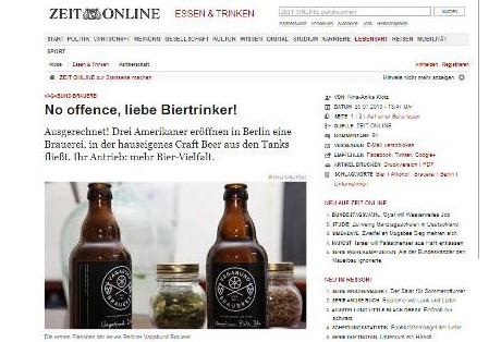 No offence, liebe Biertinker!
